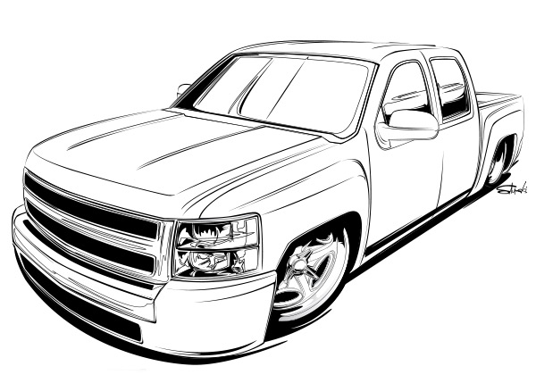 truck-coloring page