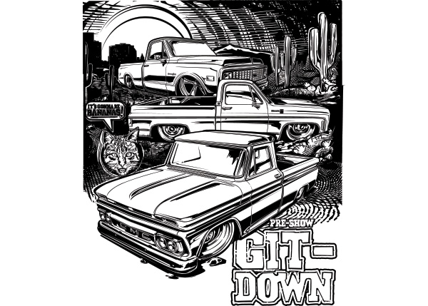 git-down-coloring page