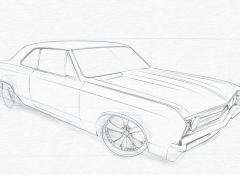 learn to draw a musclecar