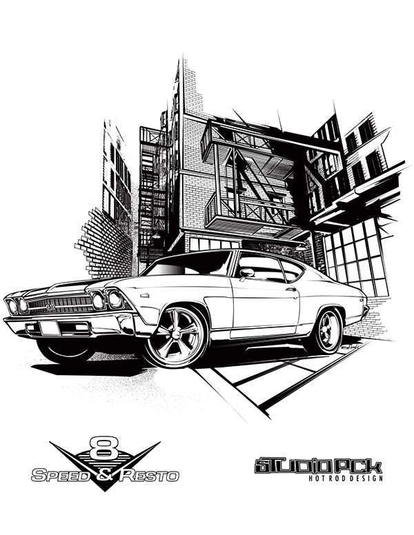 chevelle coloring page