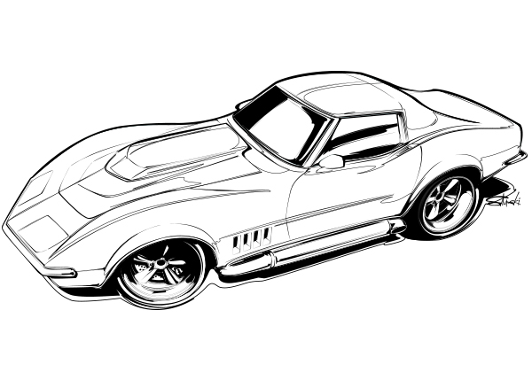 vette coloring page
